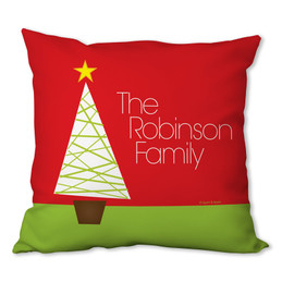 Modern Xmas Tree Personalized Pillow