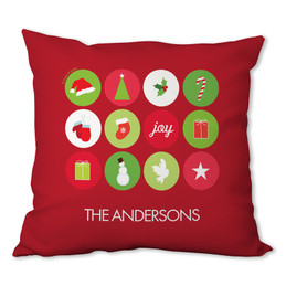 Christmas Symbols Personalized Pillow