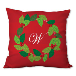 Elegant Wreath Personalized Pillow