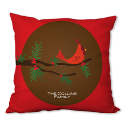 Christmas Branches Personalized Pillow