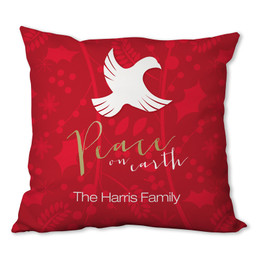 Peace on Earth Personalized Pillow