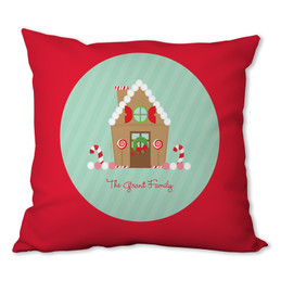 Our Sweet Xmas House Personalized Pillow