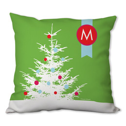 A Snowy Xmas Tree Personalized Pillow