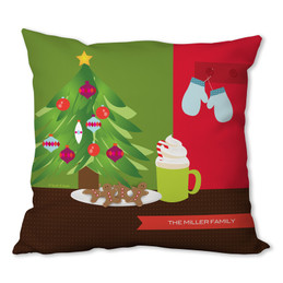 Xmas Cookies and Cocoa Personalized Pillow