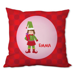 Cute Elf (Girl) Personalized Pillow