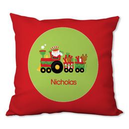 My Cute Xmas Train Personalized Pillow