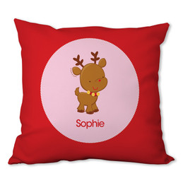 Sweet Baby Pink Deer Personalized Pillow