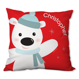 Cute Polar Bear Personalized Pillow