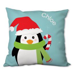 Hello from Mr. Penguin Personalized Pillow