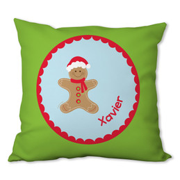 Xmas Cookie for Me (Blue) Personalized Pillow