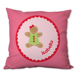 Xmas Cookie for Me (Pink) Personalized Pillow
