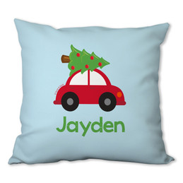Here Comes the Xmas Tree Personalized Pillow