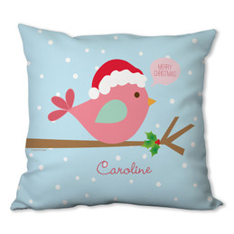 Cute Xmas Birdie Personalized Pillow