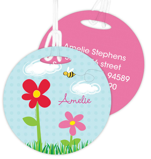 Spring Flowers Luggage Tags For Kids