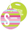 Sweet Lines Kids Luggage Tags