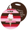 Strawberry Cone Kids Bag Tags