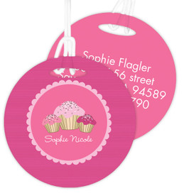 Sweet Cupcakes Luggage Tags For Kids