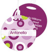 Circles And Circles Purple Luggage Tags For Kids