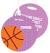 Basketball Fan Luggage Tags For Kids