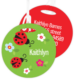 Curious Lady Bug Kids Bag Tags