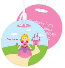 Sweet Little Blonde Princess Kids Bag Tags