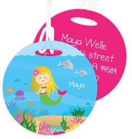 Sweet Blonde Mermaid Kids Bag Tags