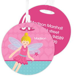 Blonde Fairy Girl Luggage Tags For Kids