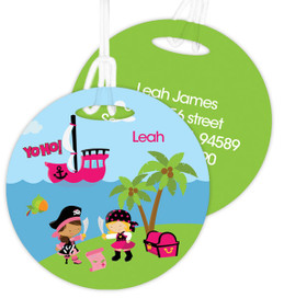 Yohoo Pirate Girl Luggage Tags For Kids