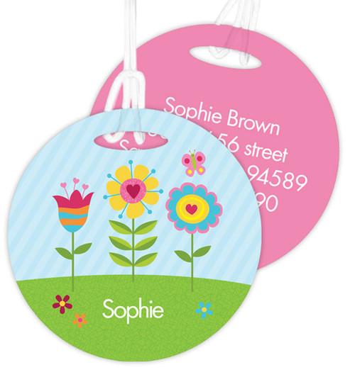 Spring Blooms Kids Bag Tags