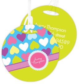 Happy Hearts Kids Luggage Tags