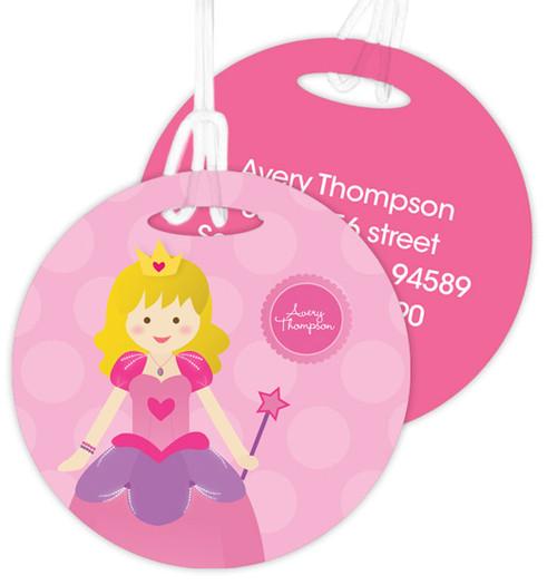 Cute Blonde Princess Kids Luggage Tags