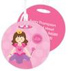 Cute Brunette Princess Kids Luggage Tags
