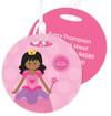 Cute African American Princess Kids Luggage Tags
