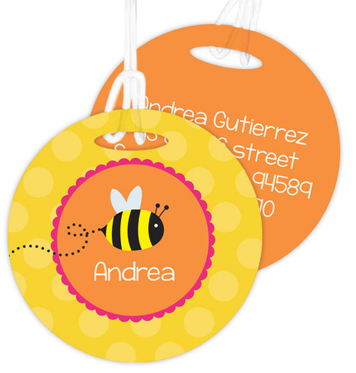 Fly Little Bee Luggage Tags For Kids