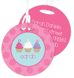Sweet Cupcakes Kids Luggage Tags
