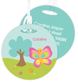 Cute And Sweet Butterfly Luggage Tags For Kids