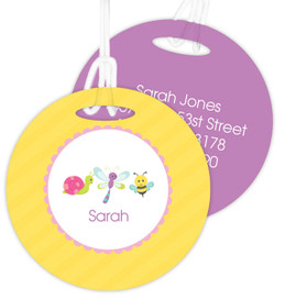 Three Sweet Little Bugs Luggage Tags For Kids