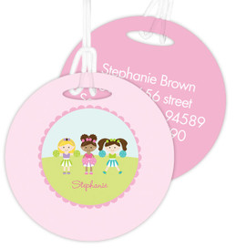 Three Cheerleaders Kids Luggage Tags