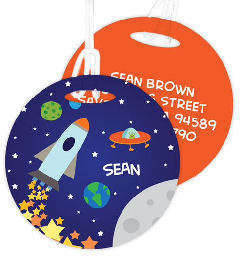 Rocket Launch Kids Luggage Tags