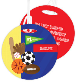 My Love For Sports Kids Luggage Tags