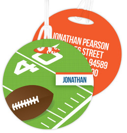 Football Fan Kids Luggage Tags
