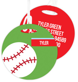 Baseball Fan Luggage Tags For Kids