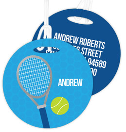Tennis Fan Kids Luggage Tags