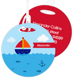 Sailing The Blue Ocean Luggage Tags For Kids
