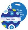 Circles And Circles - Blue Kids Bag Tags