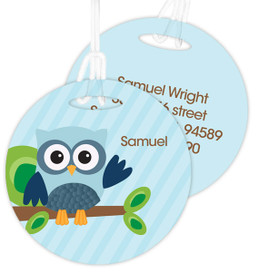 Owl Be Yours Boy Kids Luggage Tags
