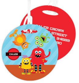 Monster Attack Kids Luggage Tags