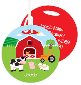 A Day In The Farm Luggage Tags For Kids
