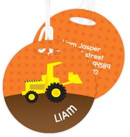 Fun Tractor Kids Bag Tags