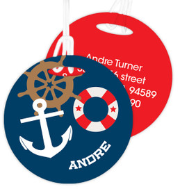 Nautical Ways Luggage Tags For Kids